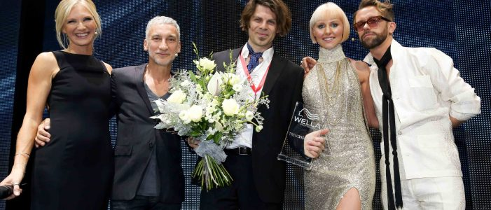 Receiving award for winning silver with hair model Norwich
